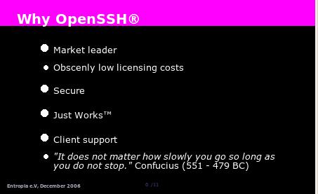 """meine slides zu meiner business-lösung """"securing entropia"""""""