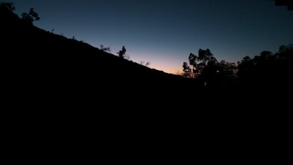 Die Sonne geht langsam auf...