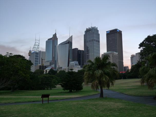 Botanic Garden mit Skyline.