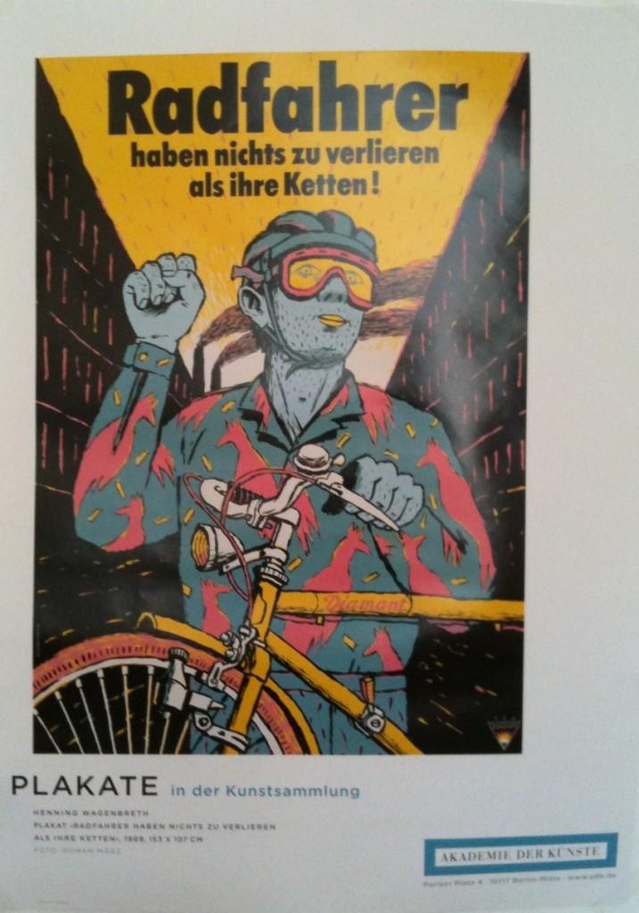 Les cyclistes n'ont rien à perdre que leurs chaînes ! Henning Wagenbreth, 1989.