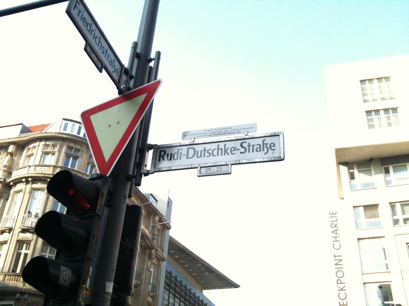 Rue Rudi Dutschke. Berlin, 4 mars 2011