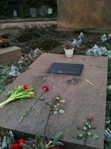 Tombe de Rosa Luxemburg. Zentralfriedhof Friedrichsfelde. 5 mars 2011