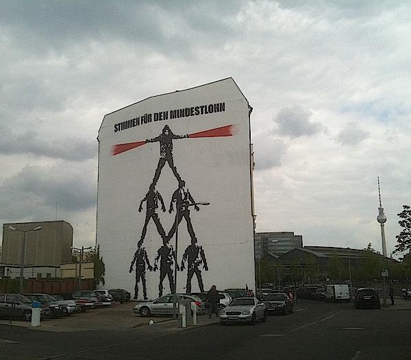 Fresque en faveur du salaire minimum, Berlin, 2012