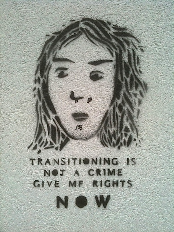 Transitioning is not a crime. Give MF rights now.