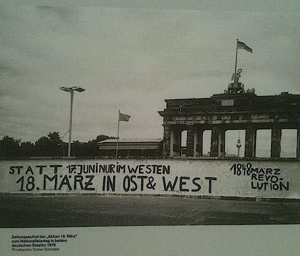 """1848 sur le mur. Expo """"1848. Trotz alledem und alledem"""", Berlin, 2012"""